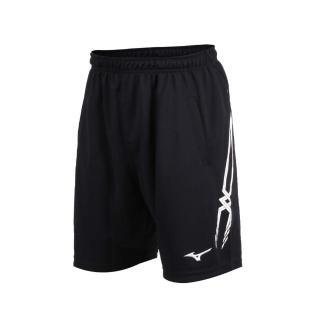 【MIZUNO 美津濃】男排球褲-運動短褲 五分褲 慢跑 路跑 美津濃 黑白(V2TB7A0609)