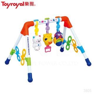 【Toyroyal 樂雅】音樂健力架-禮盒包裝/2m以上(樂雅健力架音樂鈴安撫新生兒日本)