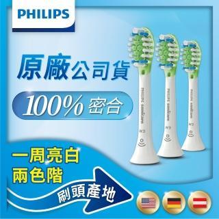 【Philips 飛利浦】HX9063/67 Sonicare DC Smart智能美白刷頭三入組-標準型-白