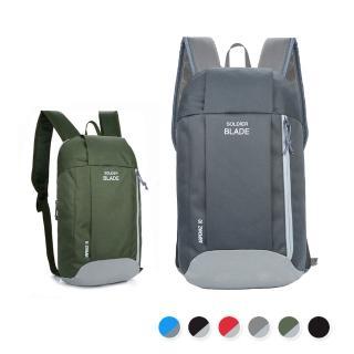 【活力揚邑】牛津雙肩背包防水防刮運動休閒旅行後背包(綠、灰)