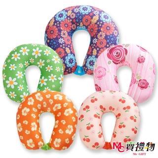 【Mc賣禮物】MIT超微粒科技U型頸枕-甜美印花(5款可選)