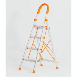 【生活藏室】加厚鋁合金家用四層折疊梯(居家登高必備)