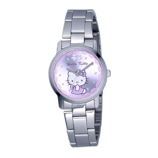 【HELLO KITTY】凱蒂貓可愛滿分俏麗手錶(紫 LK680LWVI)