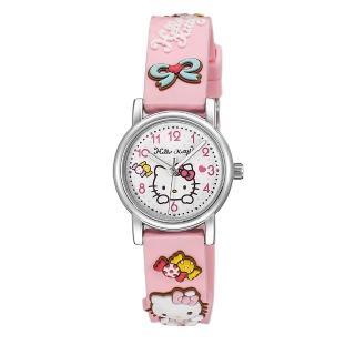 【HELLO KITTY】凱蒂貓生動迷人立體圖案手錶(粉紅 KT015LWPP)