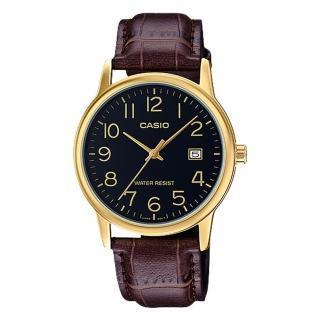 ~CASIO 卡西歐~指針男錶 皮革錶帶 防水 日期顯示 MTP~V002GL~1B