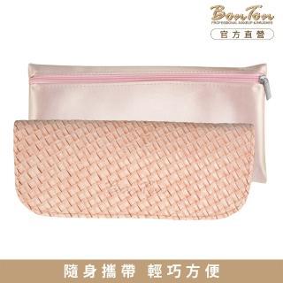 【BonTon】6支淡粉皮革編織刷具包