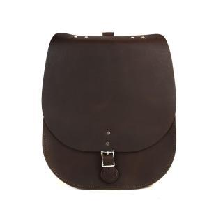 【The Leather Satchel Co.】英國原裝手工牛皮馬鞍後揹包(原色深咖啡)