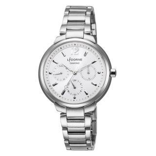 【LICORNE】力抗 永恆時光真鑽系列 凡爾賽名媛手錶(銀 LT127LWCI)