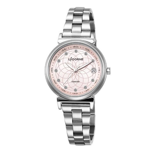 【LICORNE】力抗 永恆時光真鑽系列 宮廷魅麗繁星手錶(銀/粉紅 LT126LWPS)