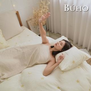 【BUHO布歐】極柔暖法蘭絨雙人加大床包三件組(多款任選)