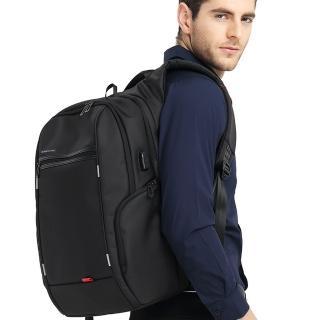 【leaper】KINGSONS 防潑水防盜USB充電15.6吋電腦後背包 共3色(USB充電筆電包)