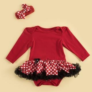 【日安朵朵】女嬰雪紡蓬蓬裙連身衣 –俏皮M小姐(長袖短袖包屁衣)