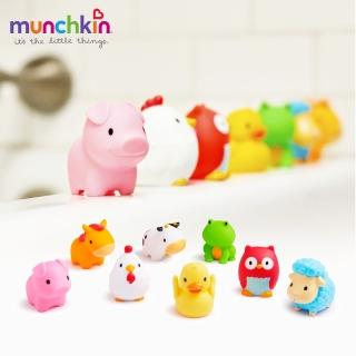 【munchkin】動物農場噴水洗澡玩具8入