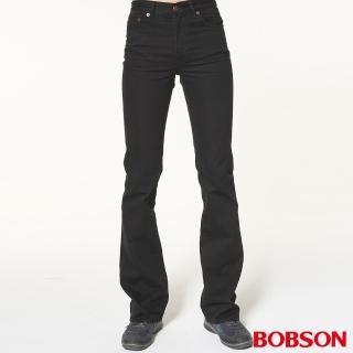 【BOBSON】男款低腰喇叭褲(黑灰1696-87)