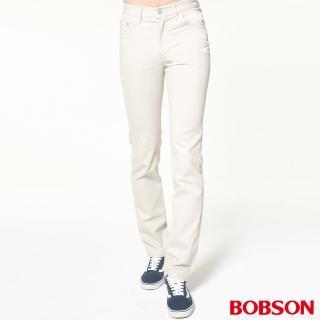 【BOBSON】男款低腰喇叭褲(白1696A-81)