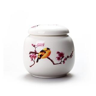 【古緣居】陶瓷密封一兩小茶罐(喜鵲登枝)