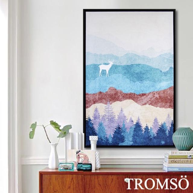 【TROMSO】北歐時代風尚有框畫-麋鹿山境B40*60cm(有框畫掛畫)/