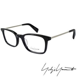 【Y-3山本耀司】Yohji Yamamoto時尚方框金屬混搭造型光學眼鏡(黑 YY1007-019)