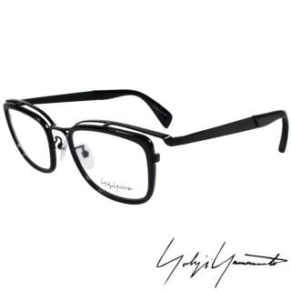 【Y-3山本耀司】Yohji Yamamoto 時尚立體方框造型光學眼鏡(黑 YY1019-019)