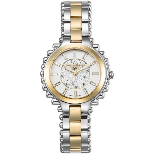 【Christian Bernard】伯納錶 Exotic Heaven 棕櫚樹鑽錶(金銀 CB003BTWI-S)
