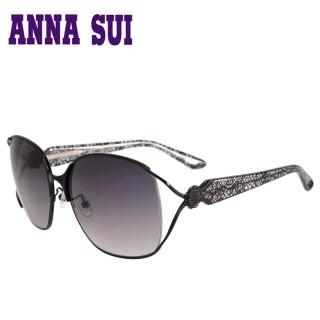 【ANNA SUI 安娜蘇】日本安娜蘇花園系列太陽眼鏡(AS880-001-黑 12HR)