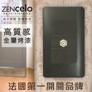 【SCHNEIDER】法國Schneider ZENcelo系列 埋入式高屏蔽電視插座_霧青金屬色