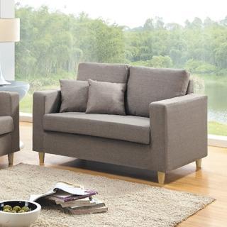 【AS】杜魯淺咖啡色雙人座布沙發-120X80X80cm