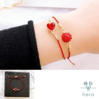 【HERA 赫拉】本命年紅繩水鑽可拉伸紅繩手鏈(6款)