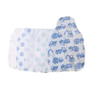 【Baby童衣】任選 嬰兒圍兜 柔棉印花領巾不挑款五入組 51003(中性款)