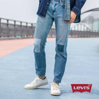 【LEVIS】上寬下窄 / 502 Taper牛仔長褲 / 直向彈性延展 / 棕梠樹補丁(亞洲熱銷版型)