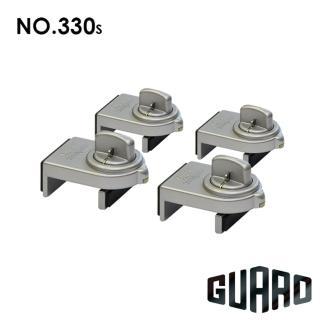【GUARD】確保型門窗輔助安全鎖(#330S 銀色4入)
