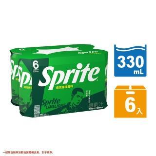【雪碧】易開罐330ml(6入)