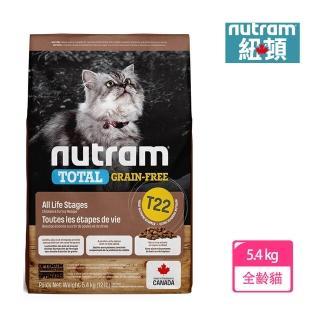 【Nutram 紐頓】T22無穀全貓火雞肉-5.4kg(無穀全能系列)