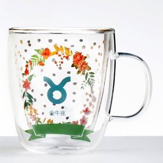 【Royal Duke】雙層玻璃咖啡杯/馬克杯/花茶杯-金牛座(星座杯-380ml)