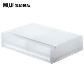 【MUJI 無印良品】PP資料盒/橫式/薄型/2抽屜