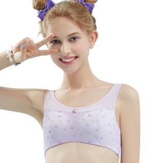 【Swear 思薇爾】朵朵雲輕甜風系列B-E罩軟鋼圈印花背心型包覆內衣(縞紫色)