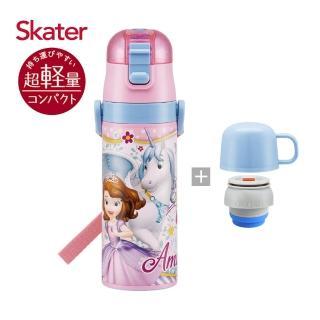 【Skater】不鏽鋼直飲保溫水壺-蘇菲亞Unicorn(附杯蓋組)