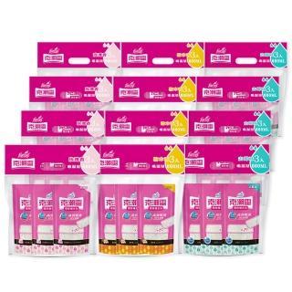 【克潮靈】除濕桶補充包36入-玫瑰香/檜木香/去霉味(3入/組-12組/箱-箱購)