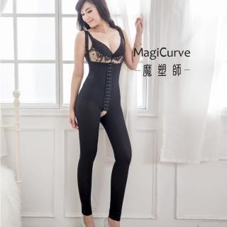 【MagiCurve 魔塑師】P-016萊卡560雙層束褲/ 抽脂溶脂束褲(九分長三排扣MagiCurve)