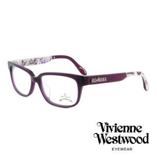 【Vivienne Westwood】英國薇薇安魏斯伍德插畫風格光學眼鏡(紫 AN298M02)