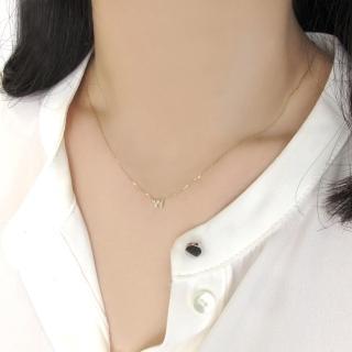 【ALUXE亞立詩】字母10k鑽石項鍊-24款任選(網路限定商品)
