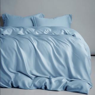 【A-nice】60支棉100%純天絲 裸睡主義 素色/緹花 床包薄被套四件組(雙人/加大多款均一價/4003)