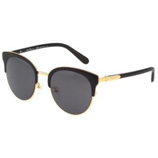 【Salvatore Ferragamo】太陽眼鏡 SF175SK(黑配金)