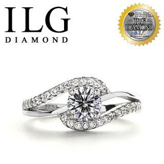 【ILG】八心八箭戒指 - 流轉年華  RI136 主鑽約50分 流線設計款(戒指)