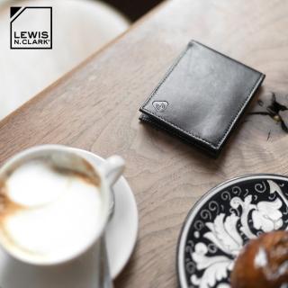 【LEWIS N CLARK】RFID屏蔽小羊皮雙折皮夾 934(防盜錄、錢包、短夾、旅遊配件、美國品牌)