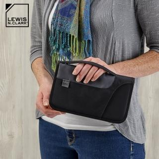 【LEWIS N CLARK】RFID屏蔽手提多功能收納包 1249(防盜錄、旅行收納、旅遊配件、美國品牌)