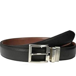 【Tommy Hilfiger】2018男時尚正式黑棕雙面使用皮帶-網(預購)