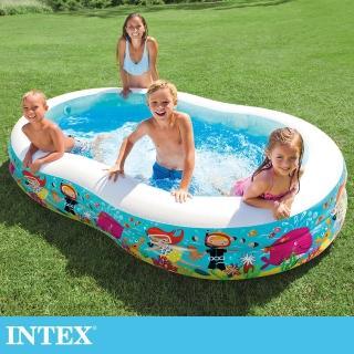 【INTEX】8字型戲水游泳池 262x160x46cm-640L 適用3歲+(56490)