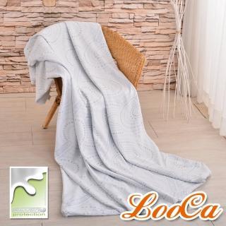 【LooCa】銀離子抗菌3-6cm薄床墊布套-拉鍊式(雙人5尺)