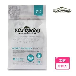 【BLACKWOOD 柏萊富】無穀全齡低敏純淨配方-30磅(雞肉+豌豆)